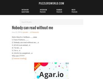 puzzlersworld.com screenshot