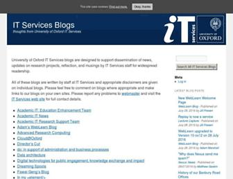 blogs.it.ox.ac.uk screenshot
