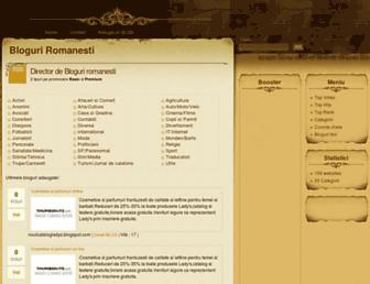 Main page screenshot of bloguri.adauga-site.eu