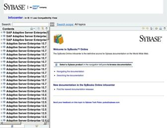 infocenter.sybase.com screenshot