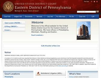 paed.uscourts.gov screenshot