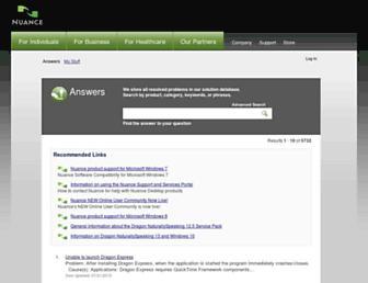 nuance.custhelp.com screenshot