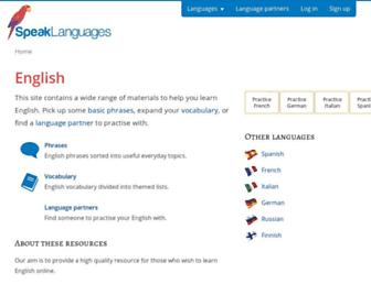 Thumbshot of Speakenglish.co.uk