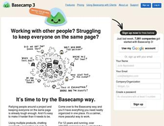 Thumbshot of Basecamp.com
