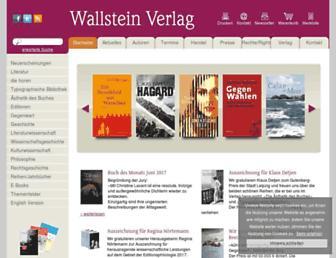 wallstein-verlag.de screenshot
