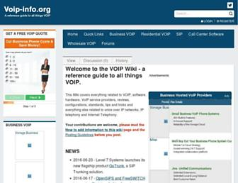Main page screenshot of voip-info.org