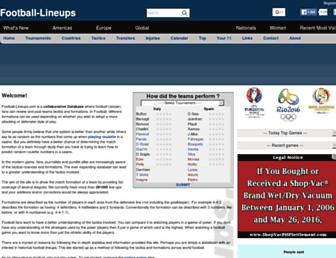 football-lineups.com screenshot