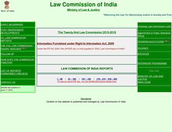 lawcommissionofindia.nic.in screenshot