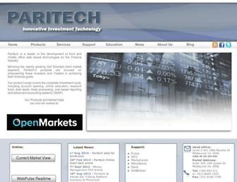 paritech.com.au screenshot
