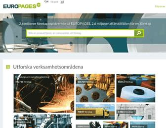 Main page screenshot of europages.se