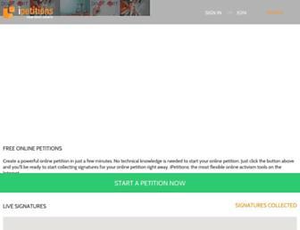 Thumbshot of Ipetitions.com