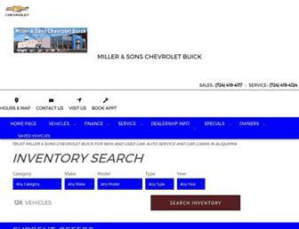 millerchevy.com screenshot