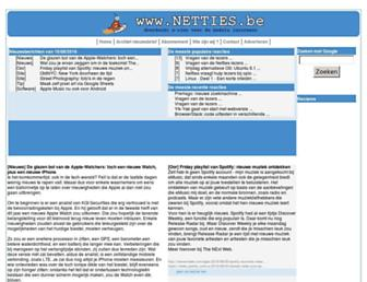 Main page screenshot of netties.be