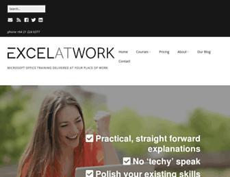excelatwork.co.nz screenshot