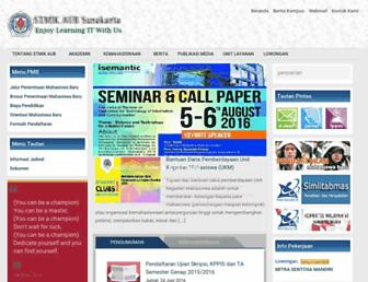 Main page screenshot of stmik-aub.ac.id