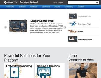 developer.qualcomm.com screenshot