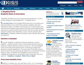 Thumbshot of Disabled-world.com