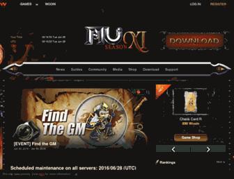muonline.webzen.com screenshot