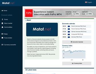 mataf.net screenshot