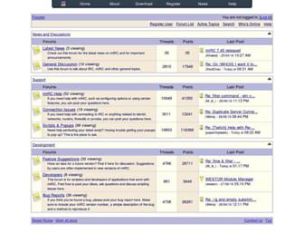 forums.mirc.com screenshot