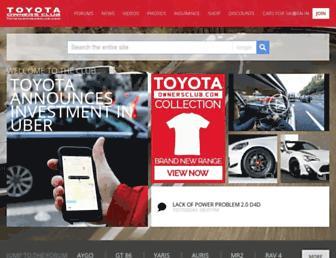 toyotaownersclub.com screenshot