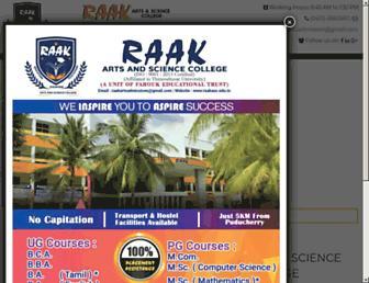 raakasc.edu.in screenshot