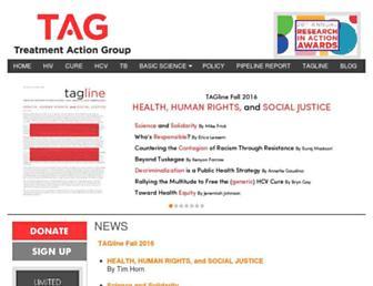 treatmentactiongroup.org screenshot