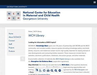 Main page screenshot of mchlibrary.info