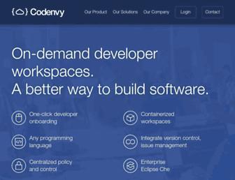 Thumbshot of Codenvy.com