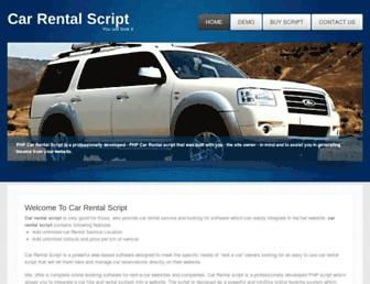 carrentalscript.com screenshot