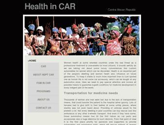 Main page screenshot of iac-ciaf.org