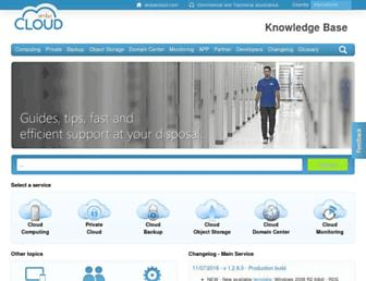 kb.arubacloud.com screenshot