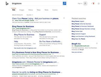bingplaces.com screenshot