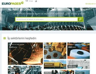 Main page screenshot of europages.com.tr
