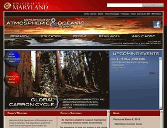 atmos.umd.edu screenshot