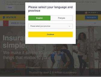 avivainsurance.ca screenshot