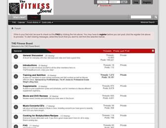 thefitnessboard.com screenshot