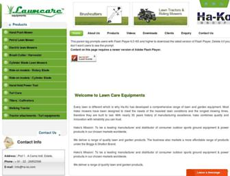 Main page screenshot of lawncare.co.in