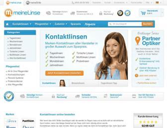 Main page screenshot of meinelinse.de