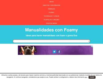 manualidadesconfoamy.com screenshot