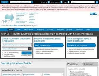 Thumbshot of Ahpra.gov.au