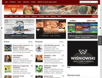 Main page screenshot of kielce.pl