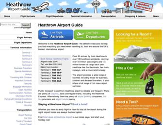 Main page screenshot of heathrow-airport-guide.co.uk