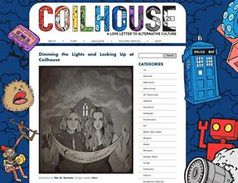 Main page screenshot of coilhouse.net