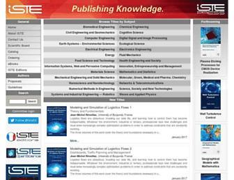 Main page screenshot of iste.co.uk
