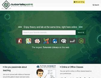 tutorialspoint.com screenshot