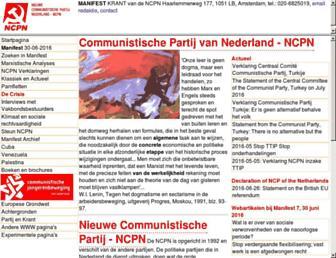Main page screenshot of ncpn.nl