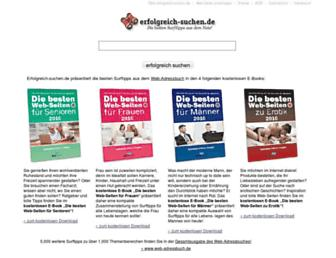 Main page screenshot of erfolgreich-suchen.de