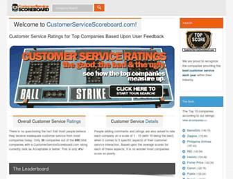 Thumbshot of Customerservicescoreboard.com