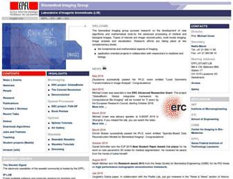Main page screenshot of bigwww.epfl.ch